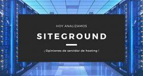 Servidor SiteGround, opiniones
